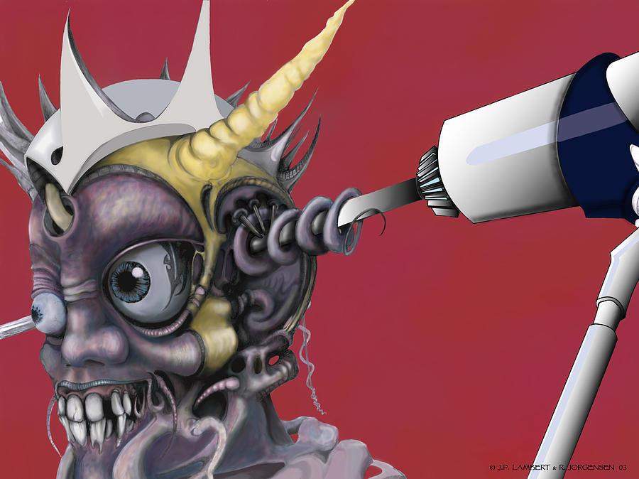 Surrealism Digital Art - Driller Fella  by J P Lambert