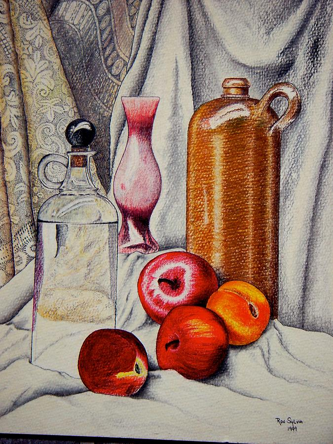 Vase Painting - Drink And Fruit by Ron Sylvia