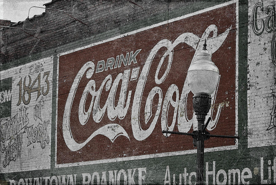Roanoke Digital Art - Drink Coca Cola Roanoke Virginia by Teresa Mucha