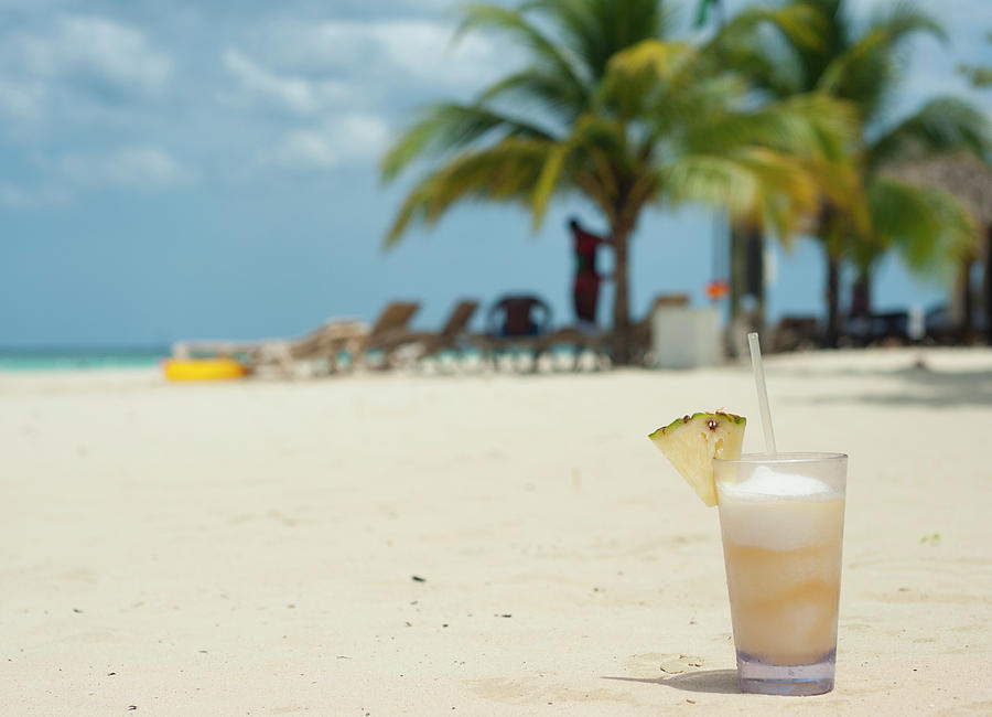 Beachscape Photograph - Drink In The Sand by Dennis Ludlow