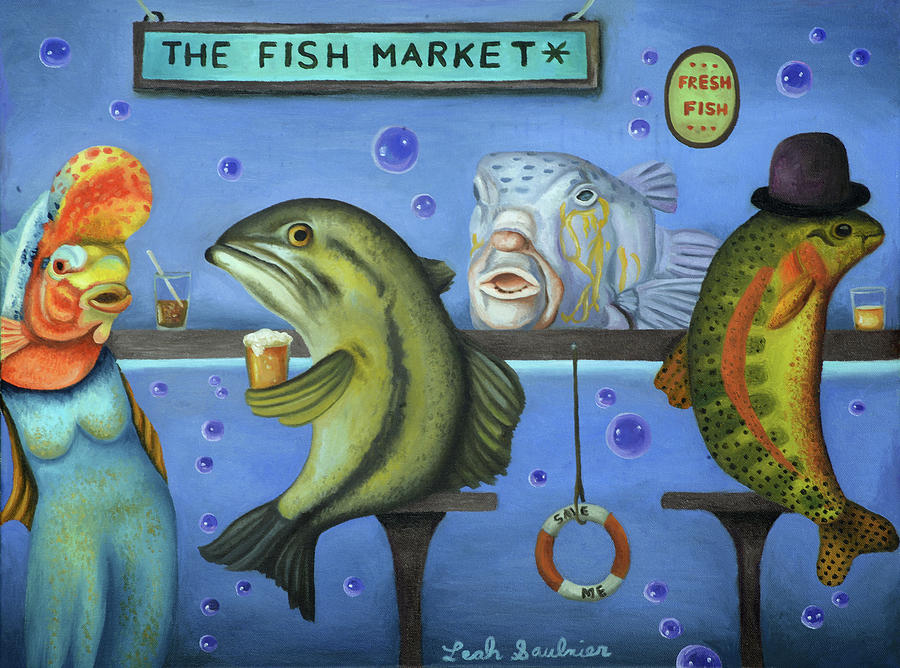 Drink Like A Fish by Leah Saulnier The Painting Maniac