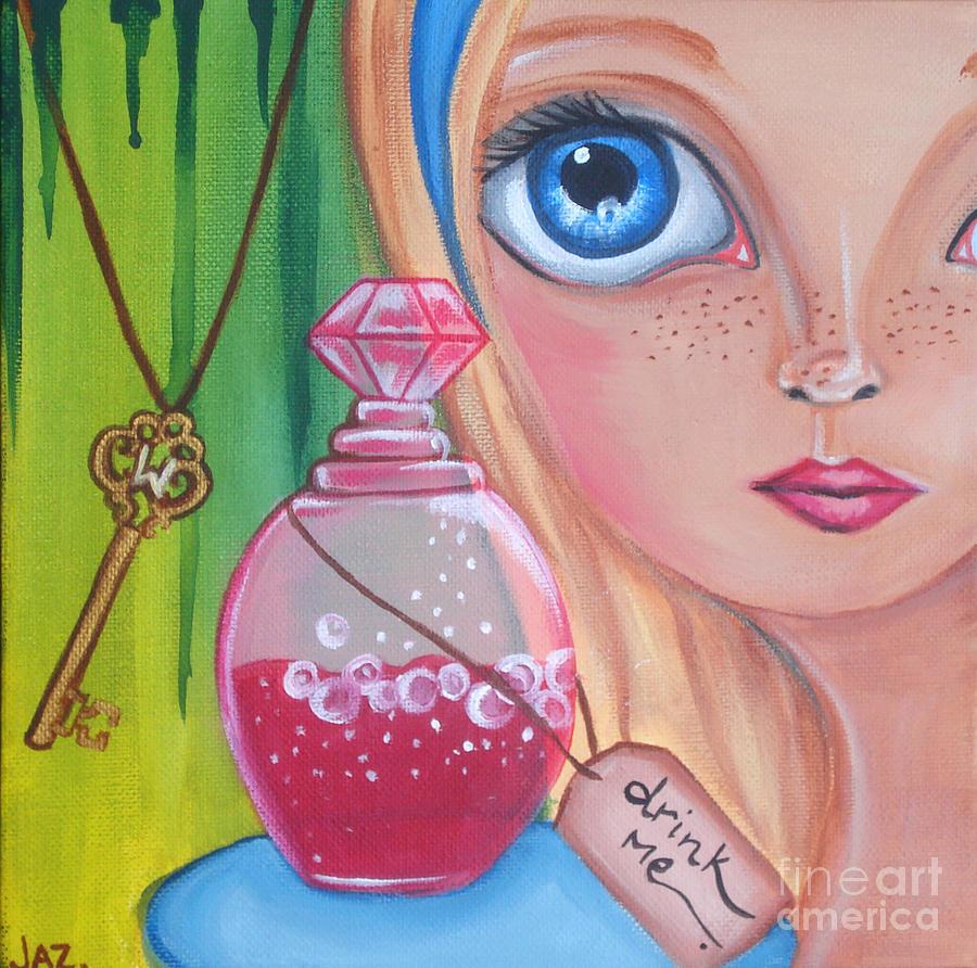 Alice In Wonderland Painting - Drink Me by Jaz Higgins