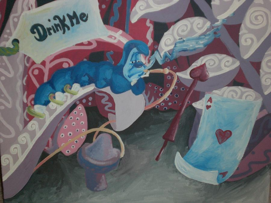 Alice Painting - Drink Me by Lisa Leeman