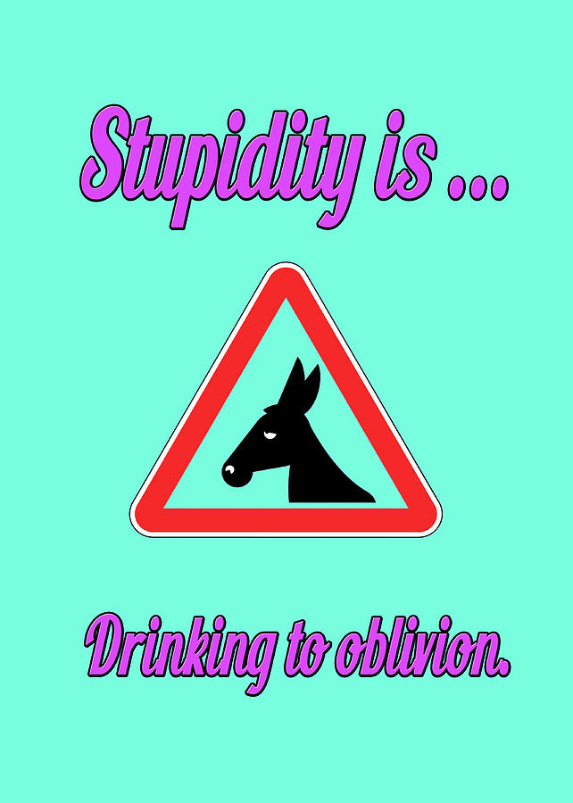 Funny Digital Art - Drinking Bigstock Donkey 171252860 by Mitchell Watrous