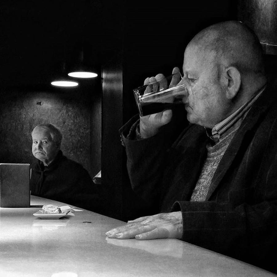 Man Photograph - Drinking Señor (and Staring by Rafa Rivas
