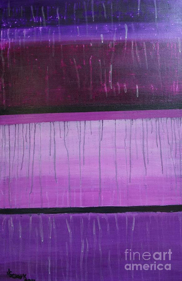 Purple Rain Painting by Jimmy Clark