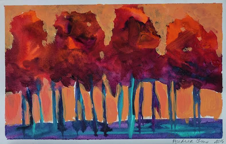 Dripping Tree #1 Painting by Andrea Sims