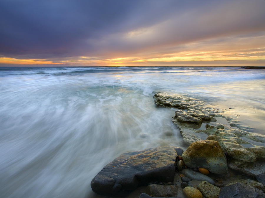 Rocks Photograph - Driven Before The Storm by Mike  Dawson