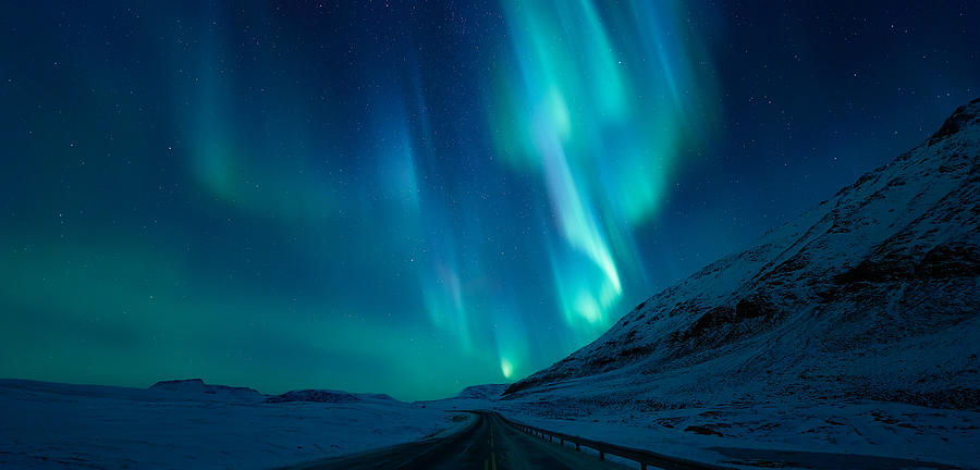 Northern Lights Photograph - Driving Home by Tor-Ivar Naess