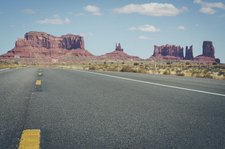 Driving Monument Valley by Margaret Pitcher