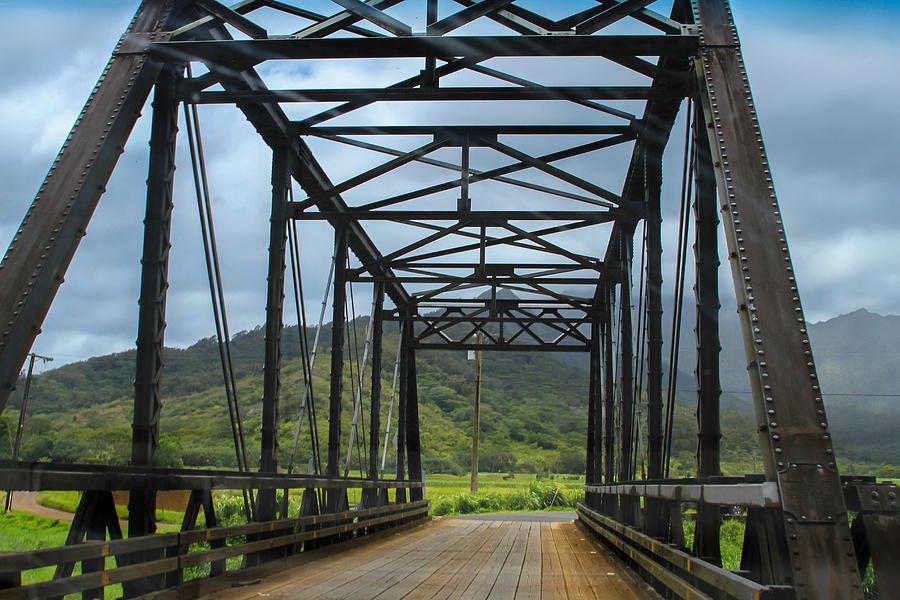 Road Photograph - Driving Over Hanalei Bridge by Bonnie Follett