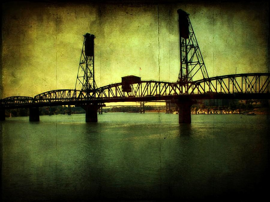 Bridges Photograph - Driving Over The Bridge by Cathie Tyler