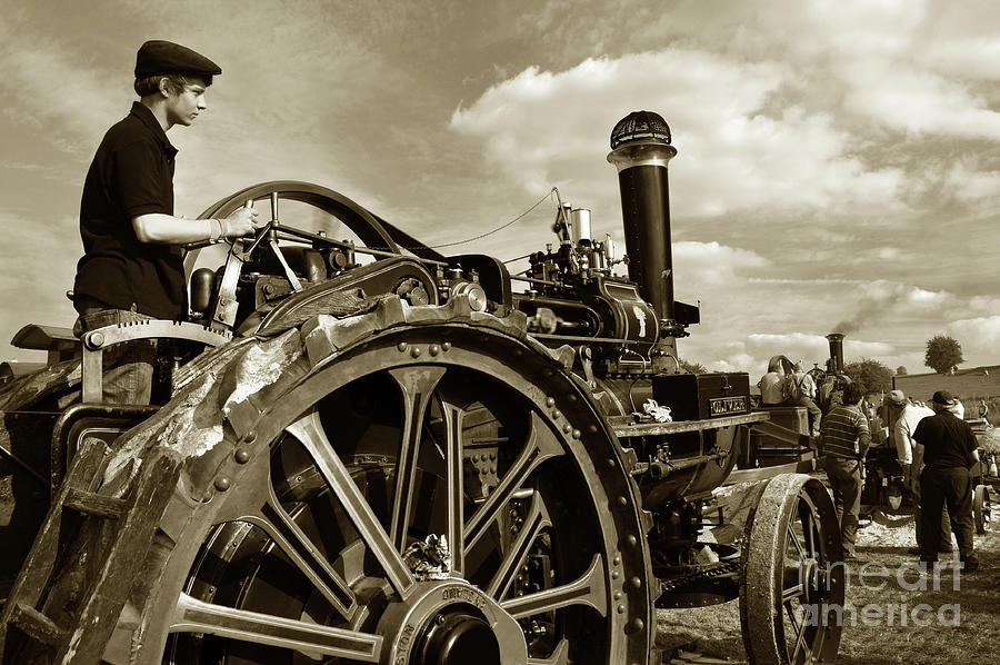 Steam Photograph - Driving The Engine by Rob Hawkins