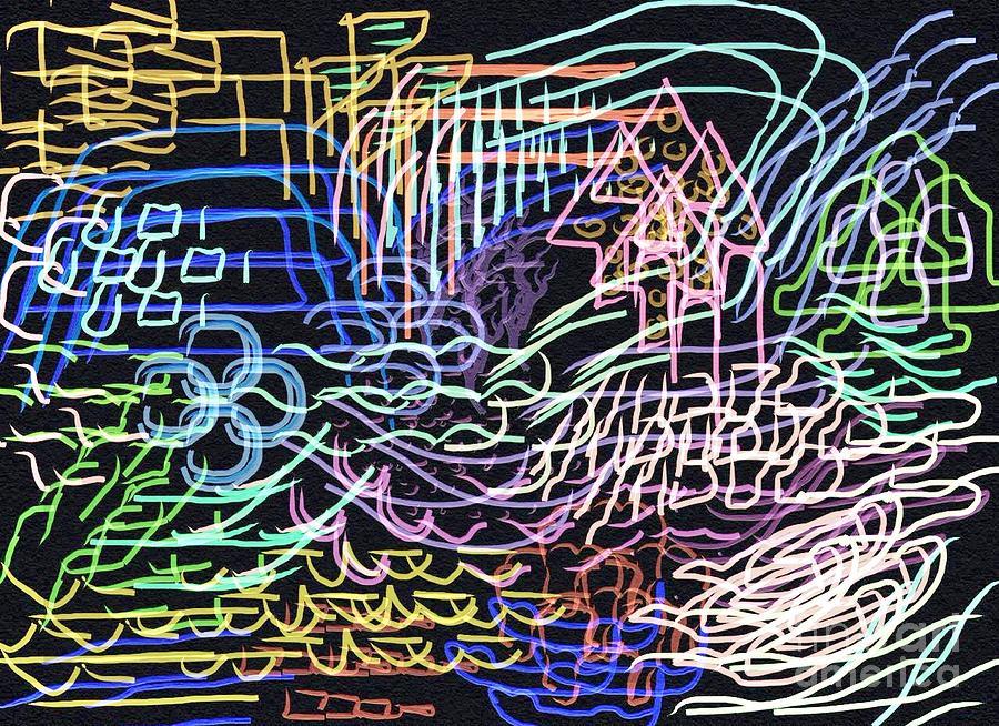 Digital Digital Art - Driving Through The City At Night by Thomas Smith