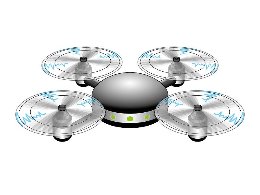 Drone Digital Art by Moto-hal