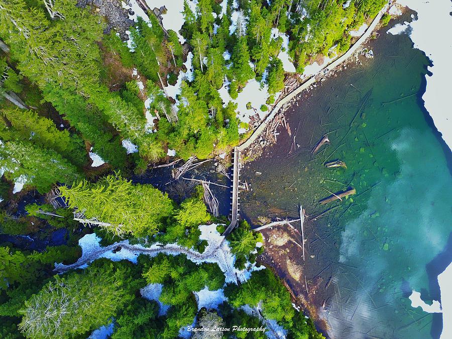 Drone Shot Of Lake 22 Bridge Photograph by Brandon Larson