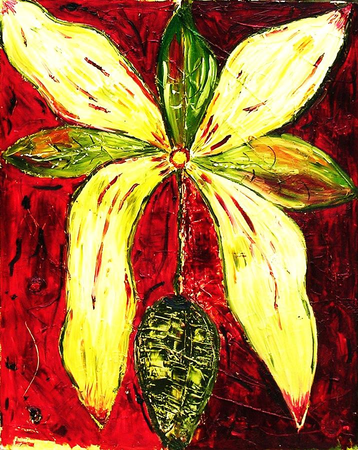 Flower Painting - Droopy Flower by Ian  Fruehauf