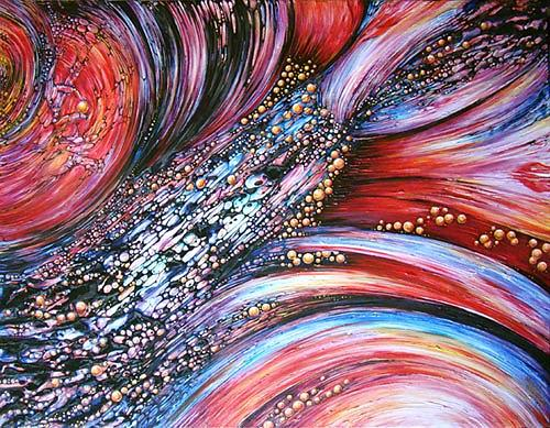 Abstract Painting - Drops of life by Natalia Pietsch