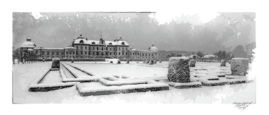 Snow Digital Art - Drottningholm Castle Winter IIi by Mikael Jenei