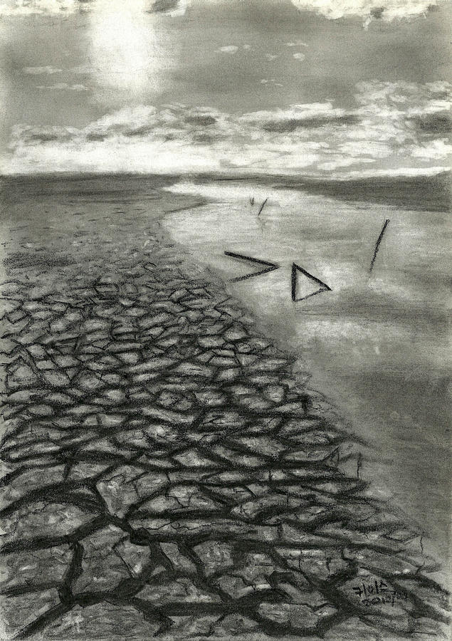 Landscape Drawing - Drought by Keith Ruiters