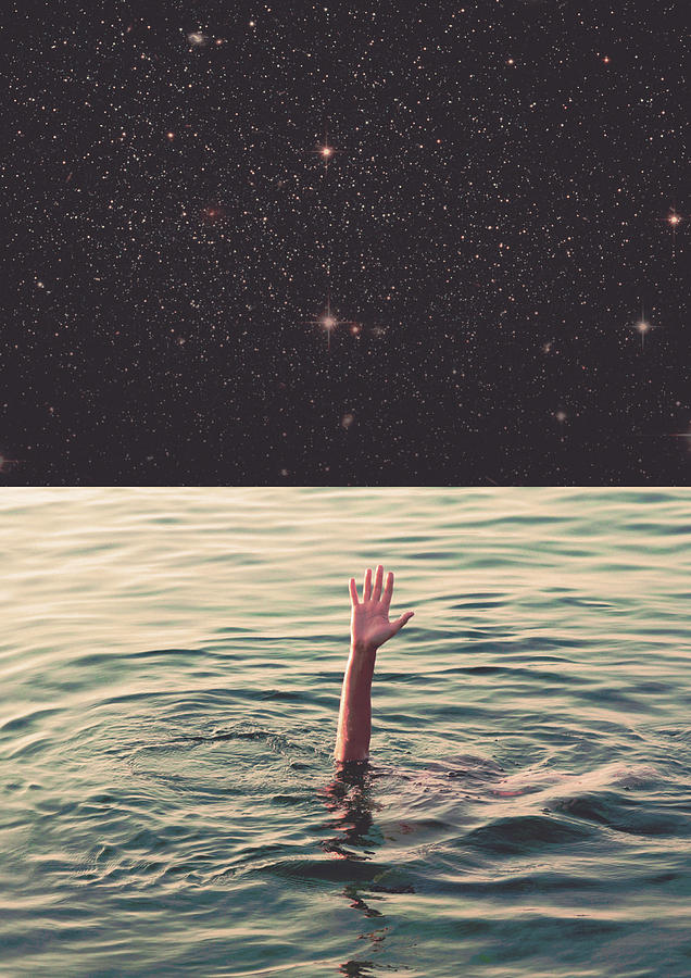 Collage Photograph - Drowned In Space by Fran Rodriguez