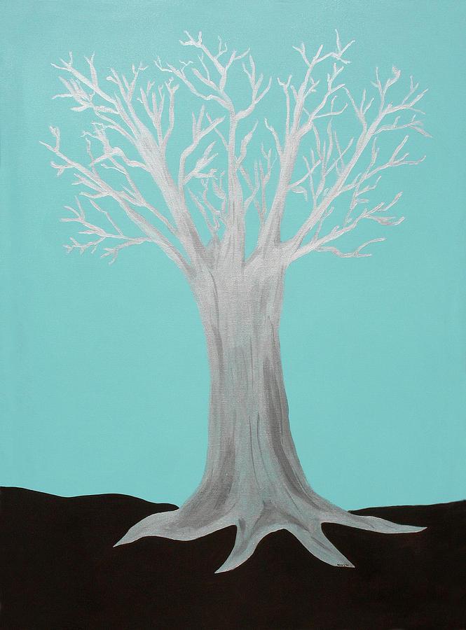 Tree Painting - Druid Tree - Original by Maura Satchell