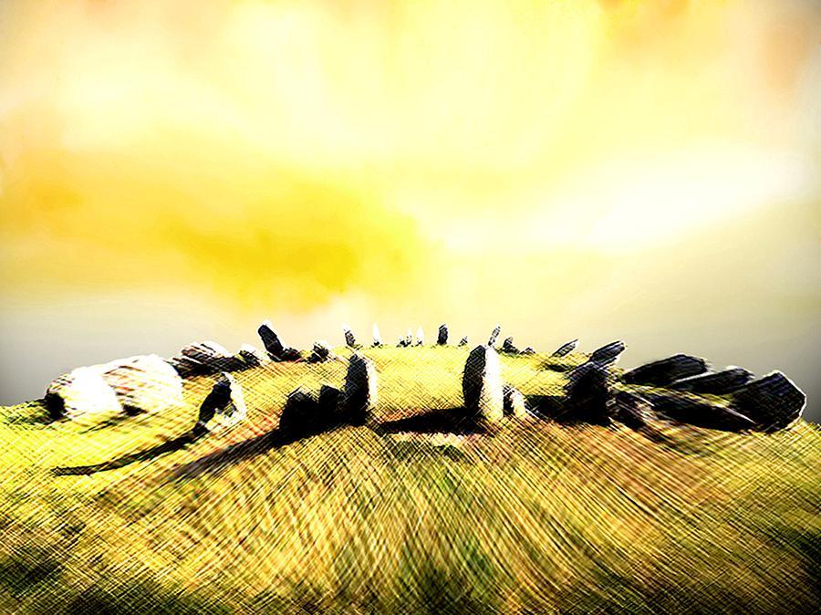 Landscape Painting - Druids Circle by Richard Hoddinott