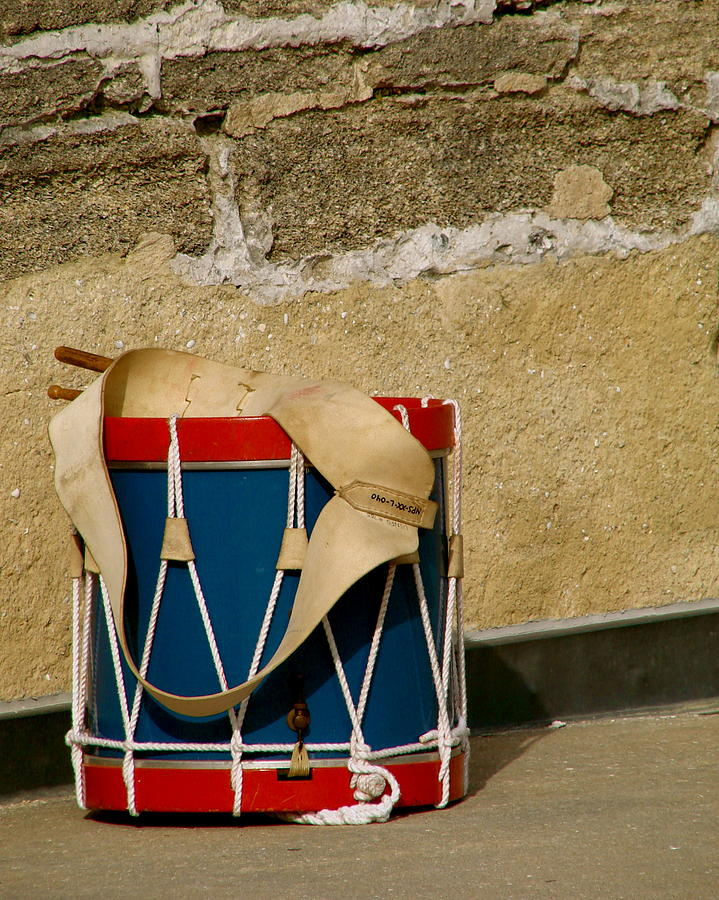 Music Photograph - Drum At The Wall by Kimberly Camacho