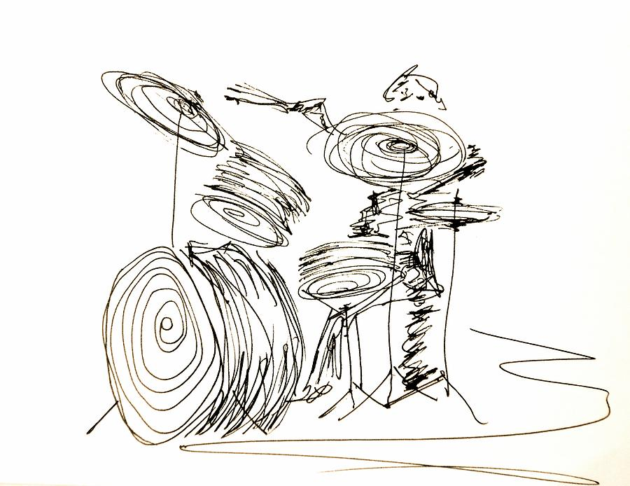 Drums Drawing - Drum Circles by Pete Maier