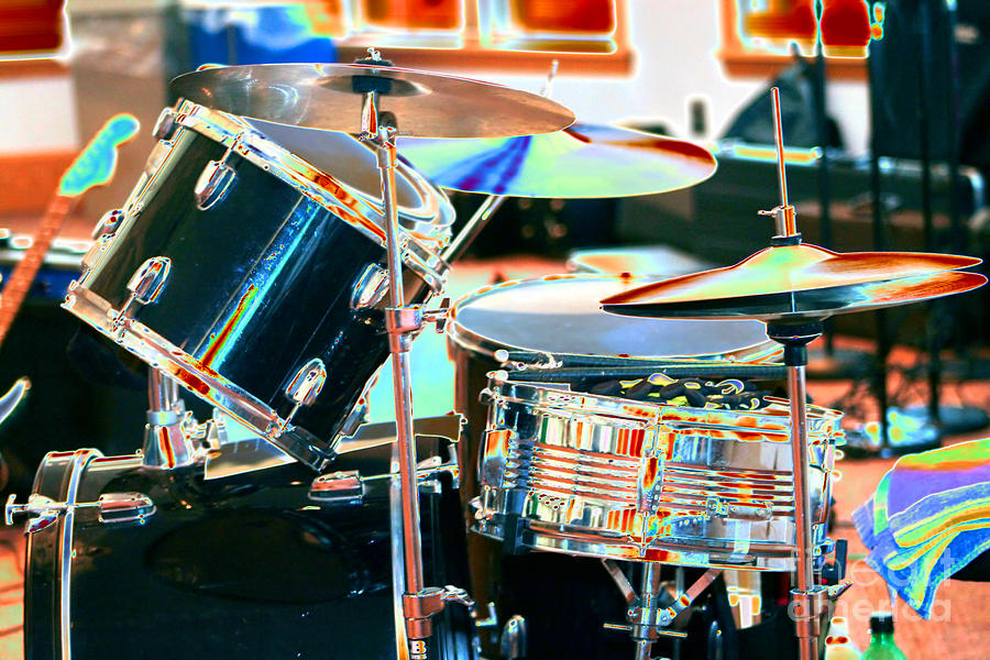 Drums Photograph - Drum Set by Susan Stevenson