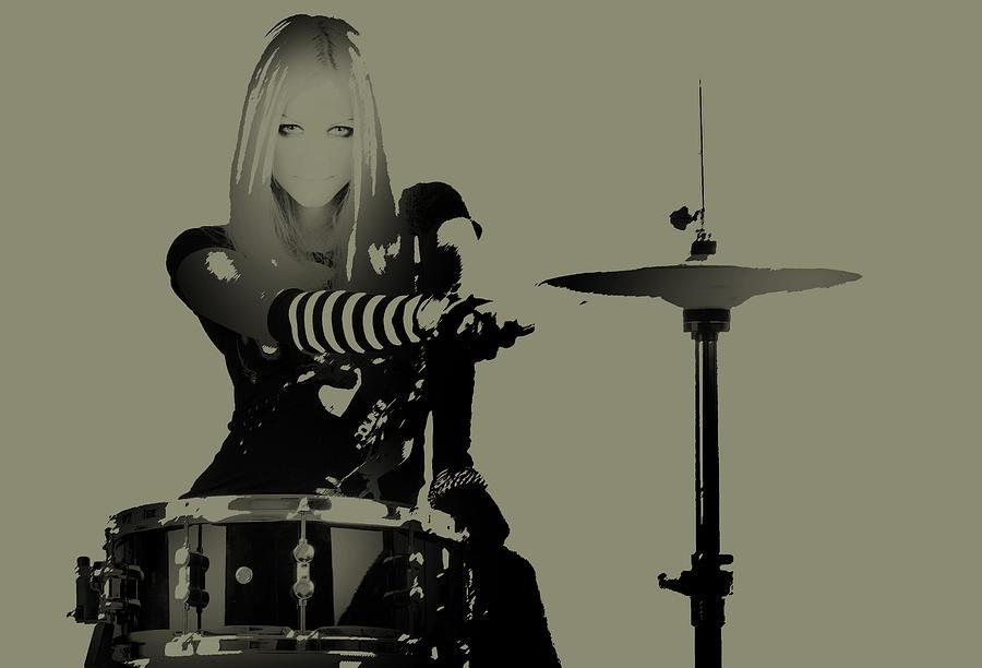 Photograph - Drummer by Naxart Studio