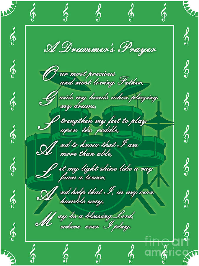Drawing - Drummers Prayer_1 by Joe Greenidge