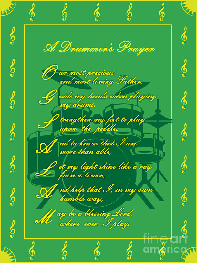Drummers Prayer_2 Digital Art by Joe Greenidge