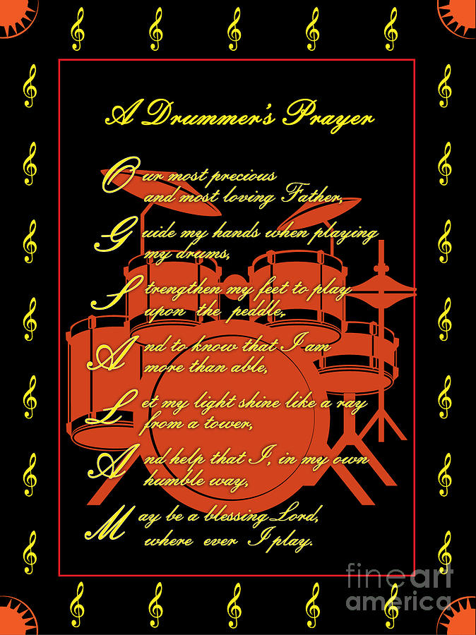 Drummers Prayer_3 Digital Art by Joe Greenidge
