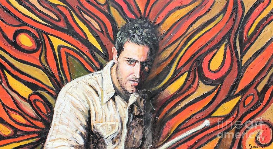Latin Painting - Drummin by Sonia Flores Ruiz