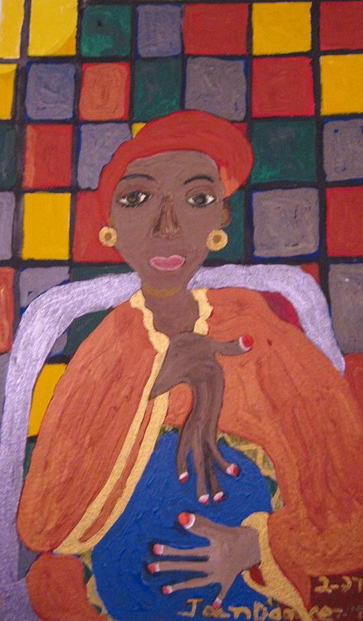 Drumming Painting by Joan Dance