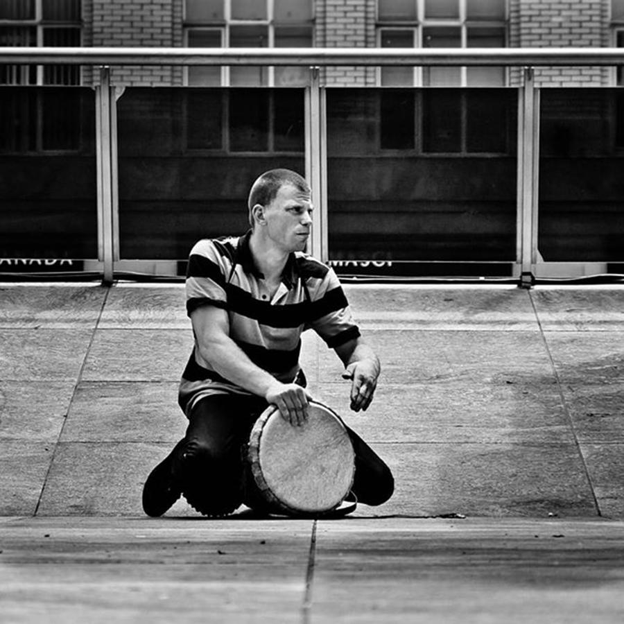 People Photograph - Drums Across The Square  #toronto by Brian Carson