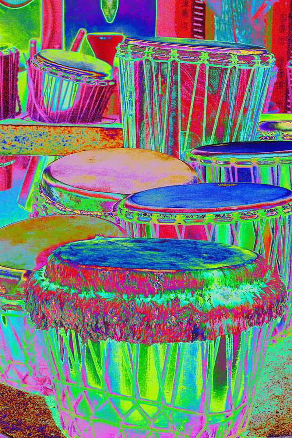 Psychedelic Photograph - Drums Of Change by Richard Henne