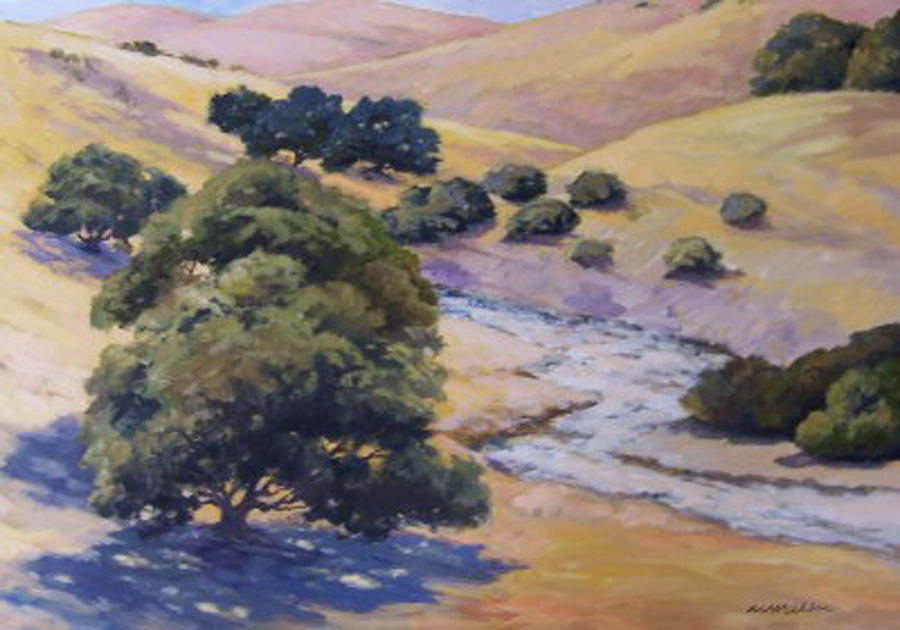 Landscape Painting - Dry Creek by Maralyn Miller
