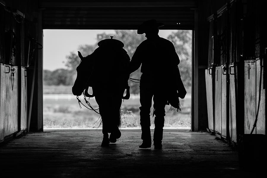 Spur Photograph - Dry Creek Stables by Charles Holloman