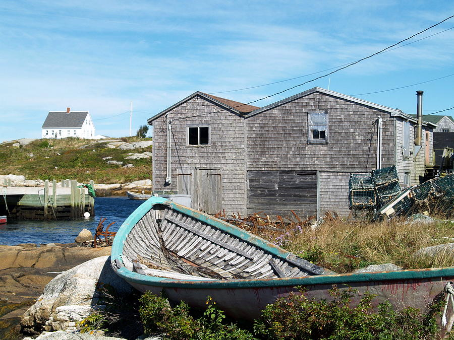 Nova Scotia Photograph - Dry Dock At Peggys Cove by Richard Mansfield