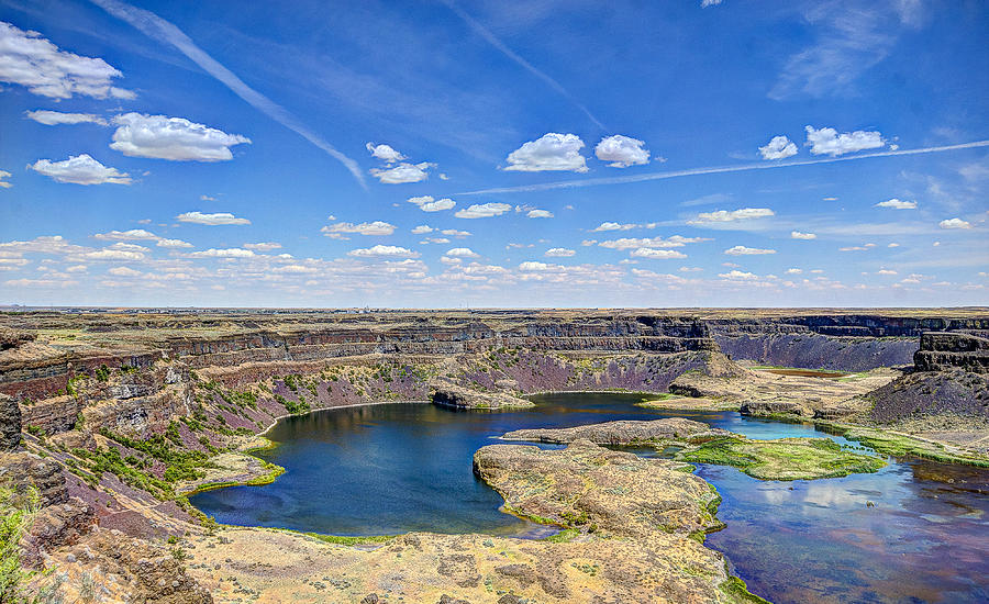 Dry Photograph - Dry Falls Overlook by John Willy