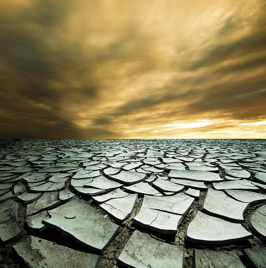 Desert Photograph - Dry Lowlands by Zarija Pavikevik