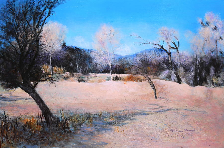 Tucson Painting - Dry Wash In Winter by M Diane Bonaparte