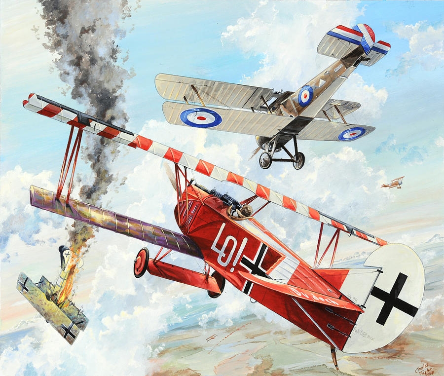 Aviation Painting - Du Doch Nicht by Charles Taylor