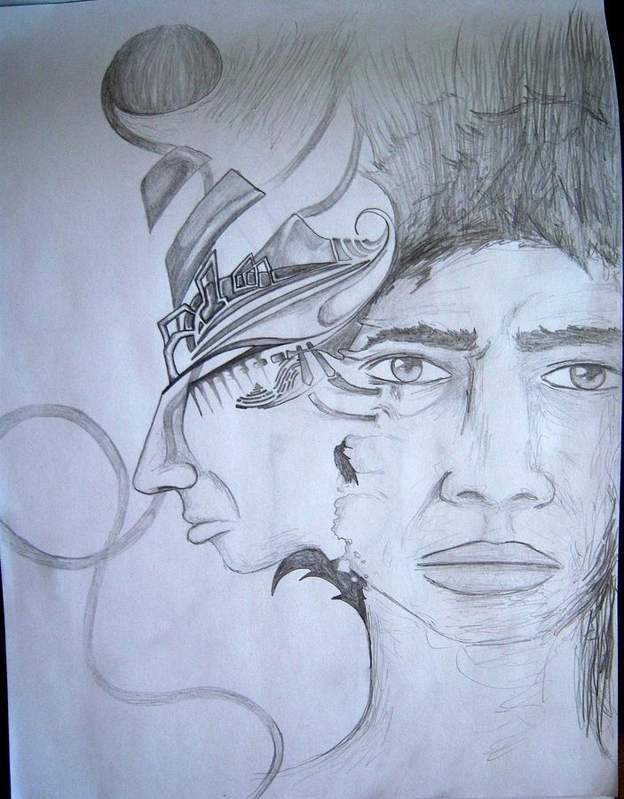 Duality Drawing - Duality by Harminder Paul