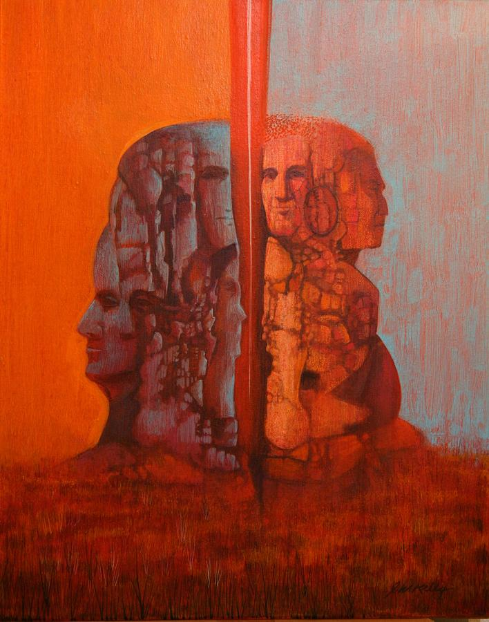 Double Minded Painting - Duality by J W Kelly