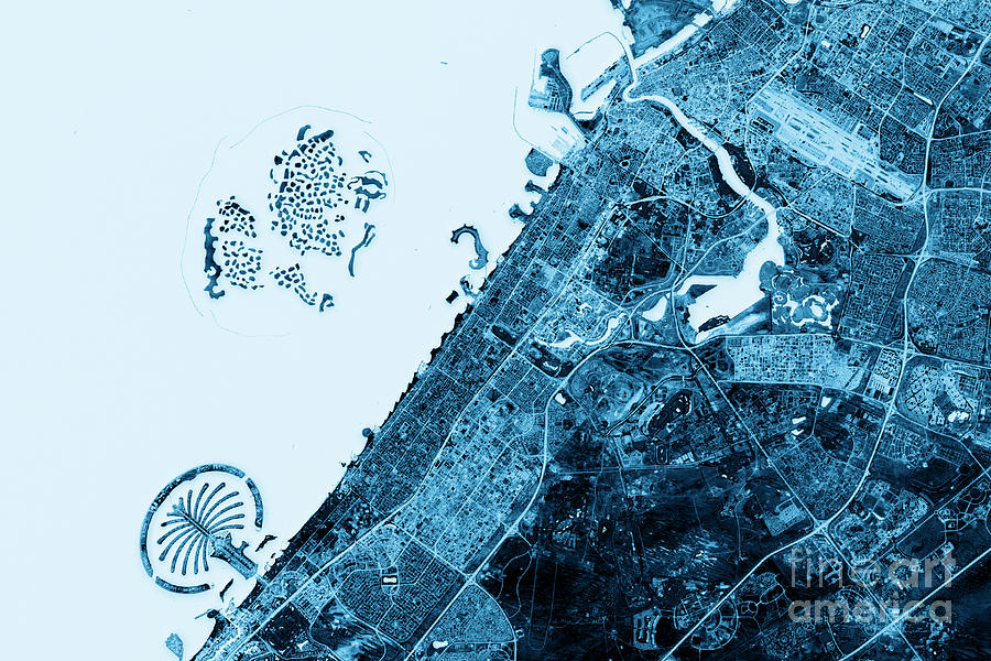 Dubai abstract city map top view dark digital art by frank ramspott dubai digital art dubai abstract city map top view dark by frank ramspott gumiabroncs Images