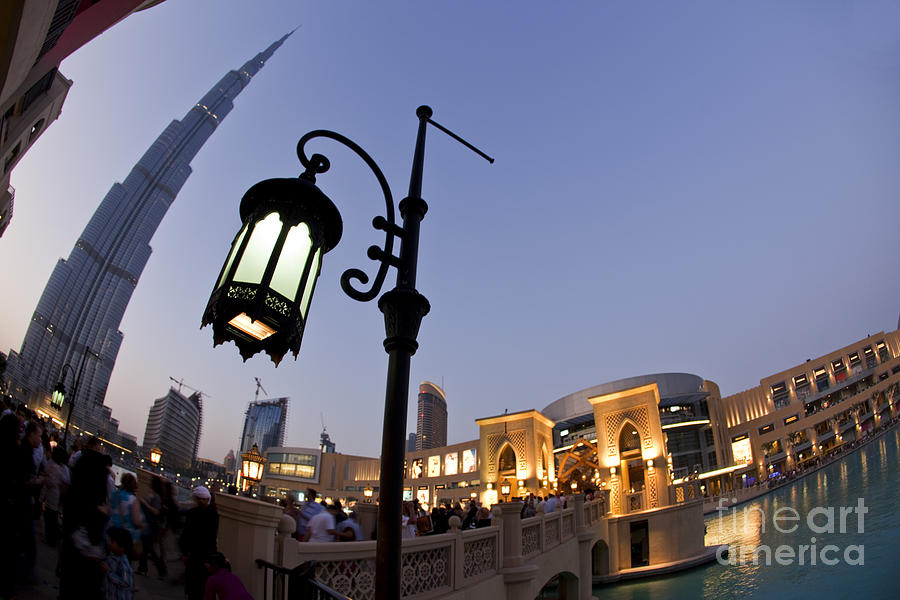 Arab Photograph - Dubai Burj Khalifa by Juergen Held