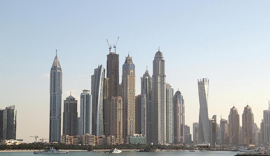 City Digital Art - Dubai City Skyline by Sandeep Gangadharan